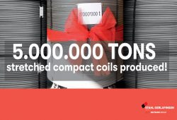 5.000.000 tons of  stretched compact coils produced