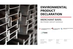An updated Environmental Product Declaration of AFV Beltrame Group merchant bars