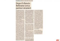 Article in Sole 24 Ore newspaper