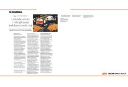 An article on La Repubblica newspaper about AFV Beltrame Group