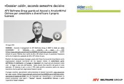 Siderweb interviews the CEO Riccardo Garrè