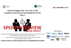 """Speed Interview""presso il Complesso universitario di Vicenza"